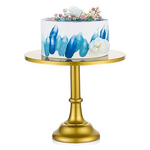 Nuptio 30cm Gold Tortenständer, Einfache Art Metall Runde Hochzeit Veranstaltung Geburtstagsfeier Dessert Cupcake Sockel Display Platte, Gold Cupcake Ständer Obst EtagereTischdeko Geburtstag