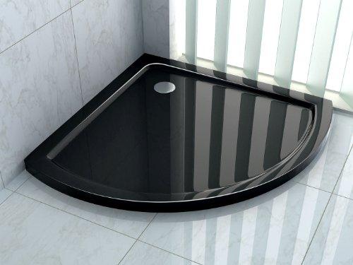 50 mm douchebak voor Shell 90 x 90 cm zwart