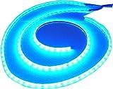 2x 100cm Luna Luz Tira de ledes, LED Azul, 2Flex rayas total 200cm, 120SMD