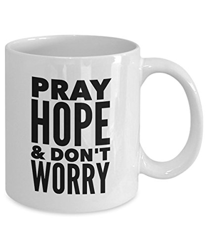 St Padre Pio Pray, Hope, And Don't Worry Inspirational Ceramic 11 oz Coffee Mug - Dishwasher and Microwave Safe