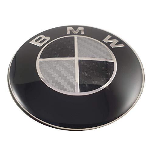 LUDOSTREET ref0002 Logo emblème insigne anagramme compatible avec 73 mm arrière coffre voiture noir - blanc chromé (A)