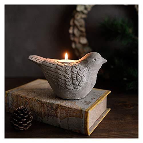 XIAOFANG Fangxia Store Molde de hormigón de Silicona Forma de pájaro 3D Moldes de candelabro DIY Plantas suculentas Hacienda de decoración para el Escritorio para el hogar