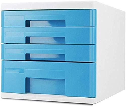 Ablageschränke Aktenschränke Vertikale Kommode Data Storage Cabinet File Storage Box Kunststoff blau Schrank Home Office Furniture (Farbe: Blau 5), Farbe: Blau 4 Bürobedarf (Color : Blue 4)