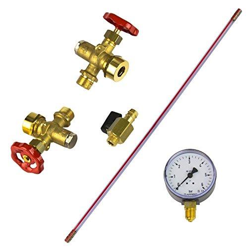 Stabilo-Sanitaer Leichte Wasserstandarmatur Wassermesser Wasserstandanzeiger Füllstandsanzeige für Druckkessel 150L - 750L