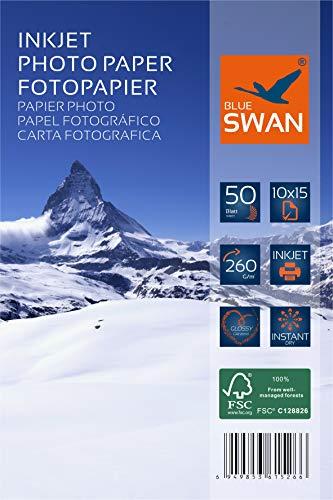 100 Blatt Fotopapier 10x15 cm 260g hochglanz wasserfest einseitig hochglanz (10x15cm 260g)