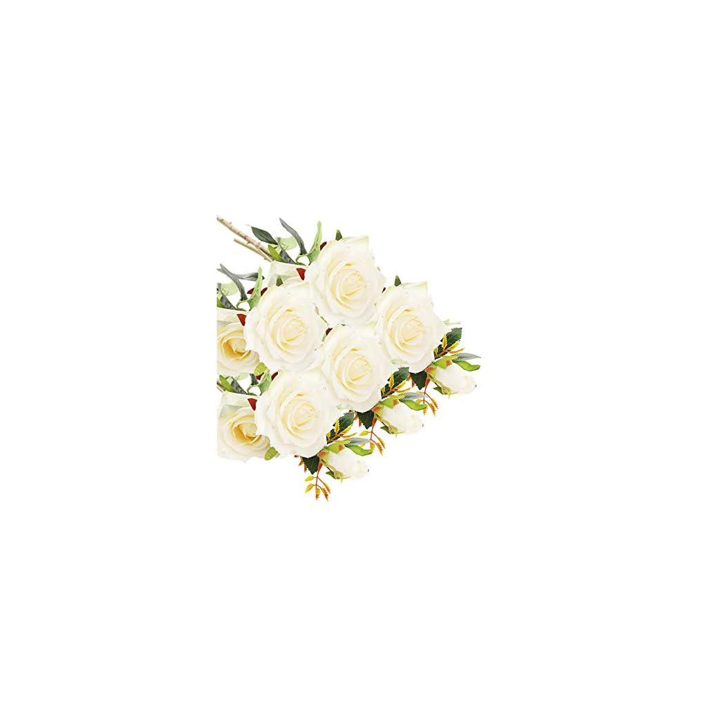 Diamerd Artificial Rose Bouquets Fake Silk Rose Flowers
