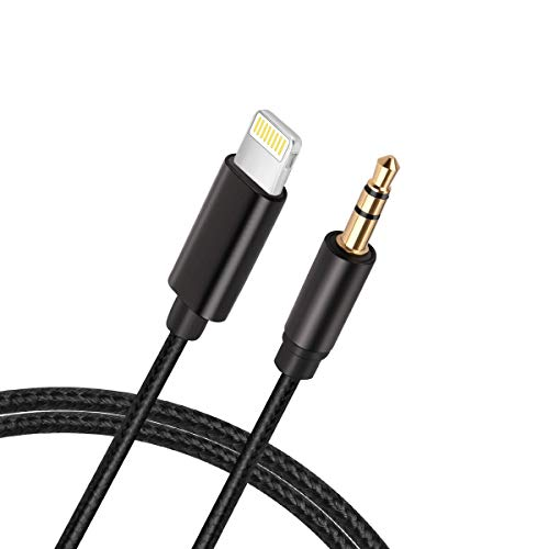 [New Version] Aux Cord for iPhone, Lcueguk 3.5mm Aux Cable Compatible with iPhone 11/7/X/8/8 Plus/XS...