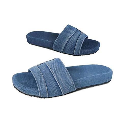 Zapatillas de mezclilla con estilo de Las Mujeres, Zapatillas únicas antideslizantes de moda, Zapatos Casuales, Zapatillas para mujeres y hombres, ducha de masaje, bañera de Hidromasaje 37 Lig