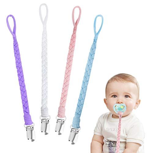 Ciuccio Clip Baby Catena per Ciuccio in Cotone per Bambini Infantile Triangolo Baby Sciarpa Sucker 4 Pezzi #7