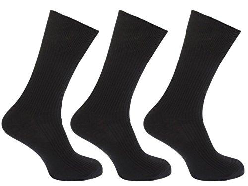 Hosiery-Direct-UK®Herren Socken Schwarz Blacks