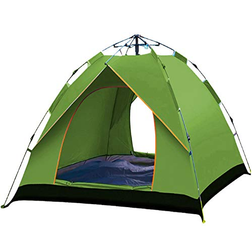 Camping Tent, Automatic Pop Up Tent Family 4 Person Tent Portable Instant Tent Waterproof Windproof for Hiking Mountaineering,B,210 * 200 * 135CM