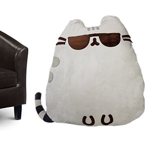 Pusheen Cojín Jumbo The Cat Cool con Gafas, poliéster, Gris, 90 x 40 x 90 cm