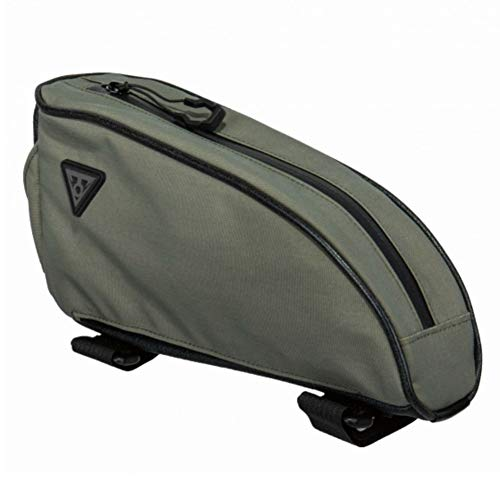 Topeak Toploader Top Tube Pack - Green, 0.75L / Top Loader Frame Bag Bikepacking Bicycle Cycling Cycle Bike Riding Ride Baggage Commuting Luggage Case Gear Kit Storage Store Packing Tour Accessories