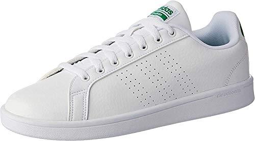 adidas Cloudfoam Advantage, Sneaker Uomo, Bianco (Footwear White/Green), 44 EU