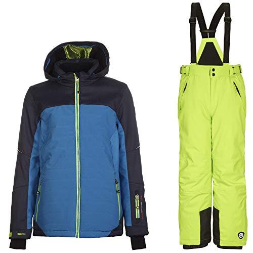 Killtec Skianzug Kinder Jungen und Mädchen, wasserdicht und Winddicht Gute Passform, Farbe:Blau, Kinder Größen:164
