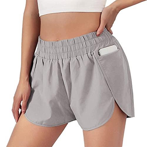 Mujeres Deportes Fitness Circunferencia De La Cintura Deportes Para Correr Pantalones Deportivos Antideslumbrantes Falso Dos Pantalones De Yoga