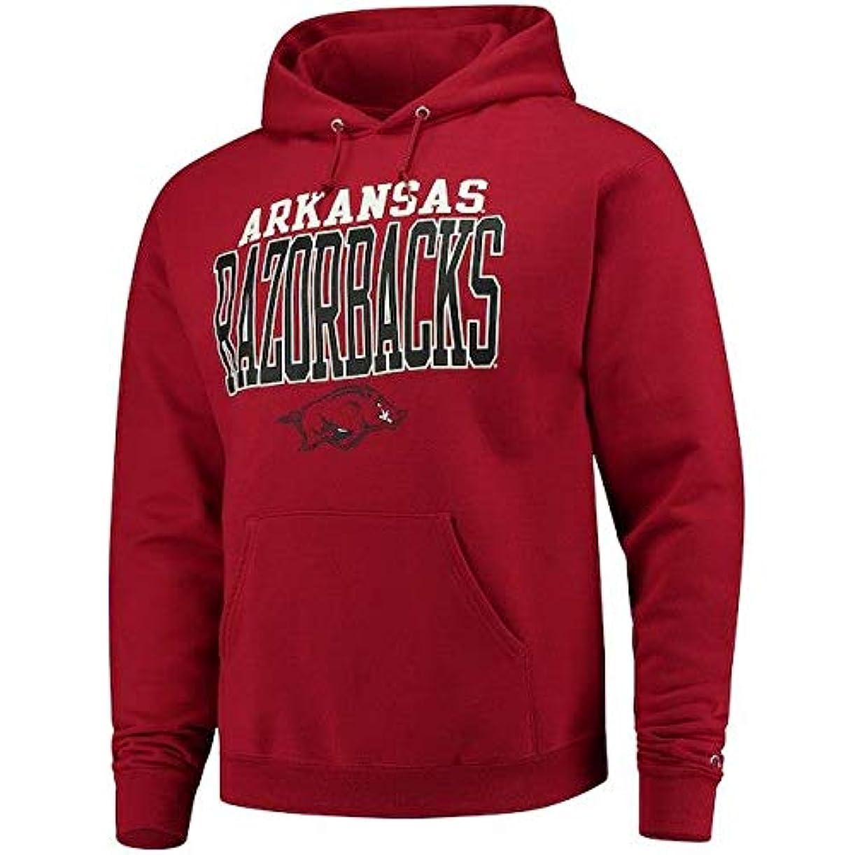 ビットフォアタイプ巻き戻すChampion Champion Arkansas Razorbacks Cardinal Core Powerblend Hoodie スポーツ用品 【並行輸入品】