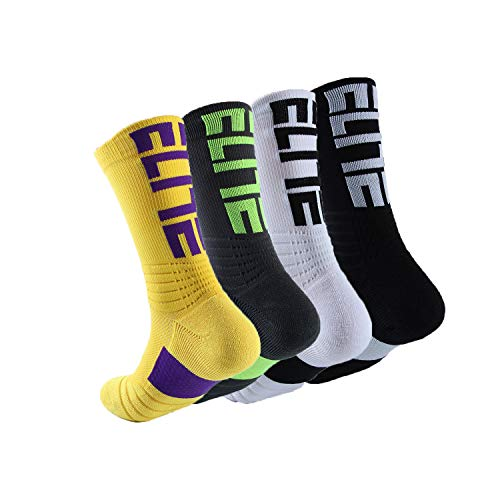 Men's Socks Basketball Dri-Fit Athletic Soccer Hiking Crew Sock Cushioned Breathable Thick Towel Calf High Protective Outdoor Sport Compression Socks