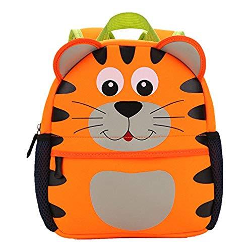 TEAMEN® Kinderrucksack Animal Schule Tasche Rucksack for Kinder Baby Jungen Mädchen Kleinkind 2-6 Alter (Tiger)