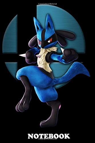 """Notebook: Lucario From , Journal for Writing, College Ruled Size 6"""" x 9"""", 110 Pages"""