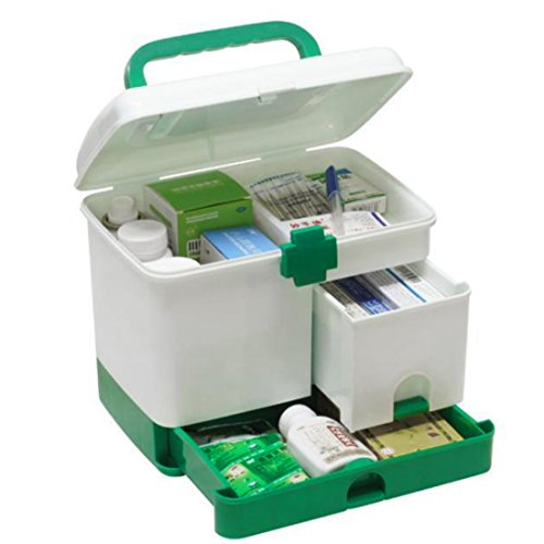 ZUJI Caja de Medicina Multicapa Armarios de Medicinas Portátil Farmacia Organizador Botiquin de Primeros Auxilios