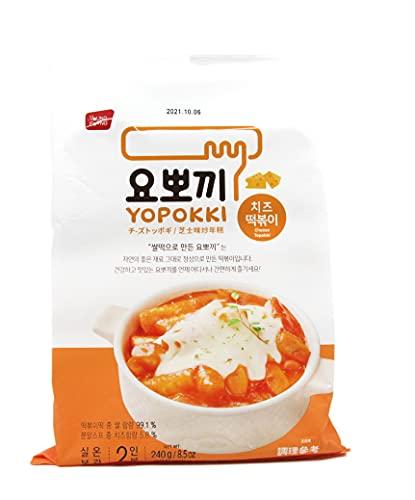 Yopokki Arroz Coreano preparado pastel paquete instantáneo (1 paquete, queso)