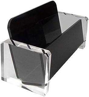 Nowakk Porta Biglietti da Visita Trasparente Portatile Espositore da Tavolo Porta Biglietti da Visita da banco da Tavolo Scaffale da scrivania Trasparente