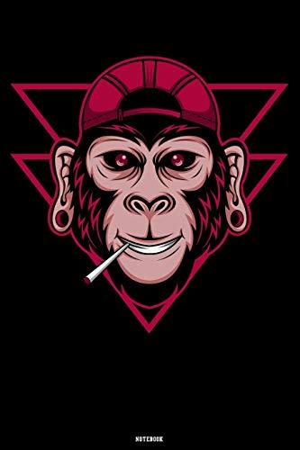 Notebook: Gorilla Hipster Journal Monkey Smoking Composition Book Silverback Travel Book Animal Birthday gift
