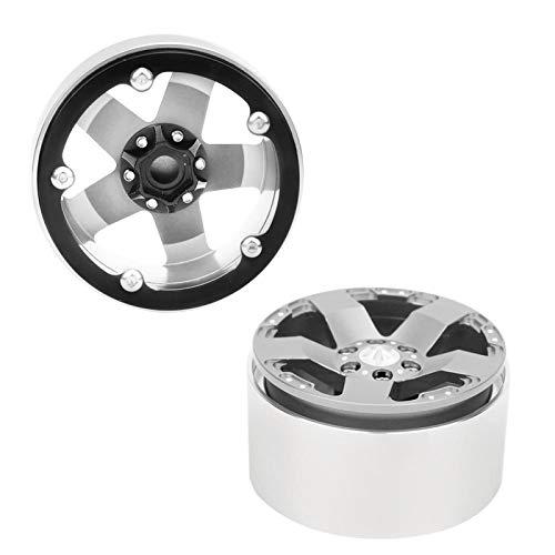 FOLOSAFENAR Mira Realista RC Crawler Hub RC Rim Universal para Modelos RC 1/10 con Estilo (Silver)
