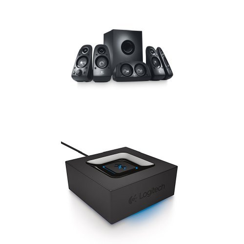 Logitech Z506 Surround Sound Speakers with Bluetooth Audio Adapter