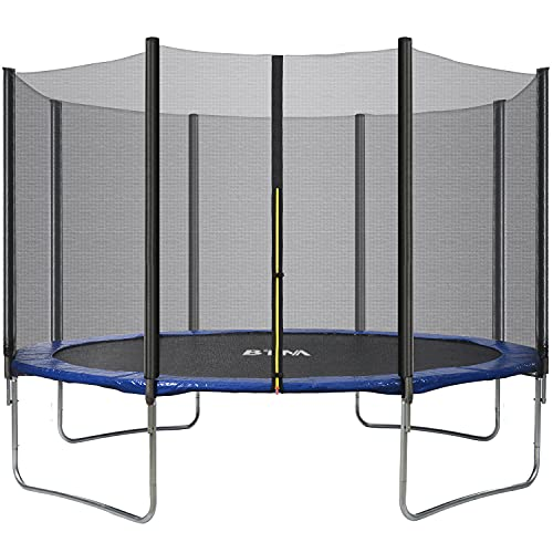Pumpumly Cama elástica de 14 pies de alta especificación con hoja de salto, redes de recinto de seguridad, escalera y kit de anclaje, trampolín al aire libre para adultos/niños