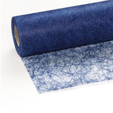 Unbekannt 100 Deko Diamanten + 25 m x 30 cm Sizoflor® Vlies Original Tischband dunkelblau Tischläufer blau für Hochzeit, Weihnachten