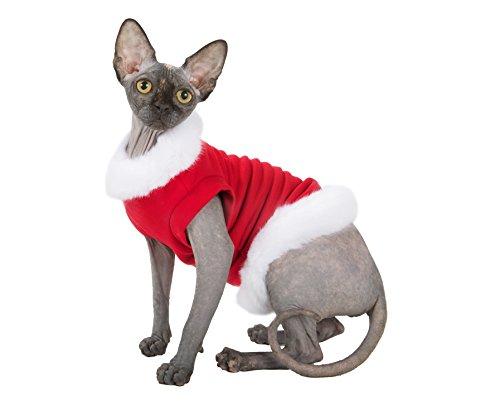 Kotomoda Katzen Kleidung warm Pullover Santa Klaus (M)