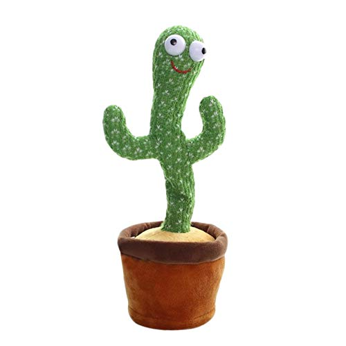 Dancing Cactus Plush Toys Electronic Shake Dancing Cactus Funny Singing and Dancing Cactus Wiggling Cactus Stuffed Toy Home Ornament Gift for Kids