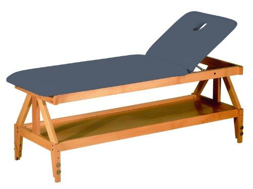 Stationäre Holz-Massageliege, Holz, 190 x 62 cm, 2 Zonen