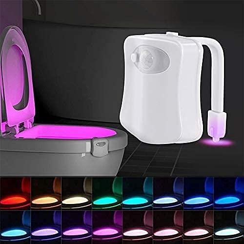 Color Changing Toliet Night Light Motion Sensor LED Multi-Color Toilet Light Toilet Motion Activated LED Light Washroom Light UV Toilet Lamp Bowl Night Light Smart Light Toilet Night Lamp (16 1PCS)