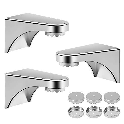 ZITFRI 3er Seifenhalter mit Magnet Seifenschalen magnetische Seifenablage mit 6er Seife Plättchen für Magnetseifenhalter - Ideal für Aufbewahrung von Seife - für Badezimmer Küche