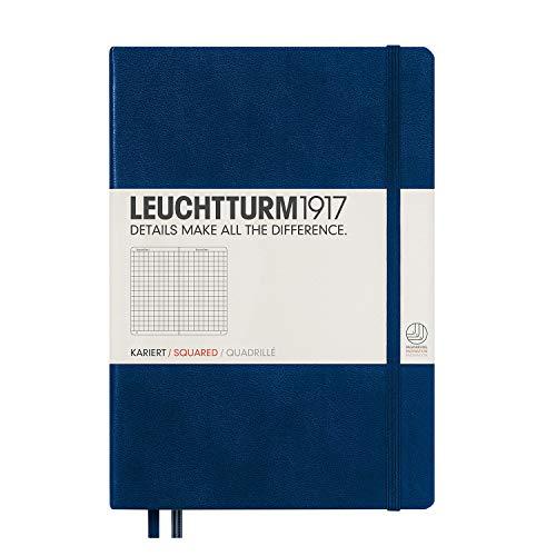 LEUCHTTURM1917 342923 Notizbuch Medium (A5), Hardcover, 251 nummerierte Seiten, Marine, kariert