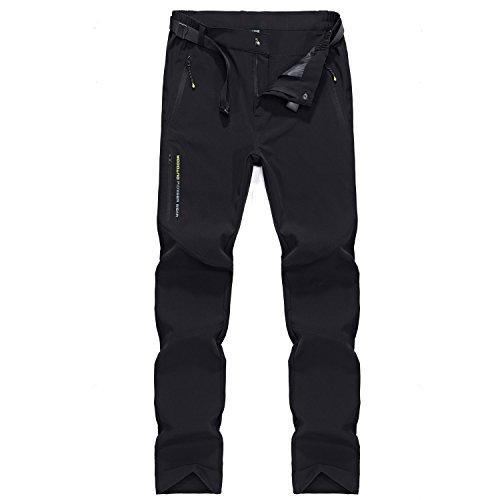 LHHMZ Hombre Acampada y Senderismo Pantalones Impermeables de Secado rápido de Lavado fácil Pantalones Casuales de Viaje Ligero al Aire Libre Transpirable