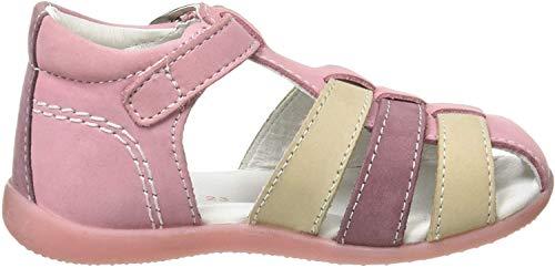 Kickers Jungen Baby Mädchen Bigfly-2 Sandalen, Pink (Rose Tricolore 132), 24 EU