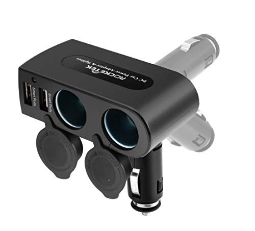 Caricabatteria da auto USB Splitter per accendisigari con doppie porte di ricarica per splitter USB da 3,1 A e prese per adattatore splitter per accendisigari da 12V/24V per telefono/Pad/GPS/tablet
