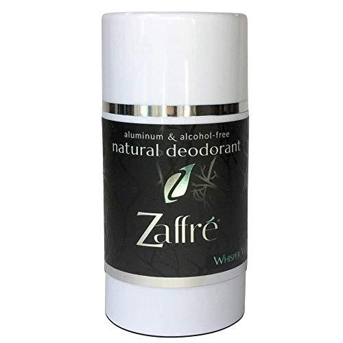 Zaffre Natural Deodorant for Women and Men, Aluminum Free Clean Cruelty-Free Beauty | Vegan Underarm Deoderant, Alcohol Free & Paraben Free, 3.2 oz - Fragrance: Whisper White