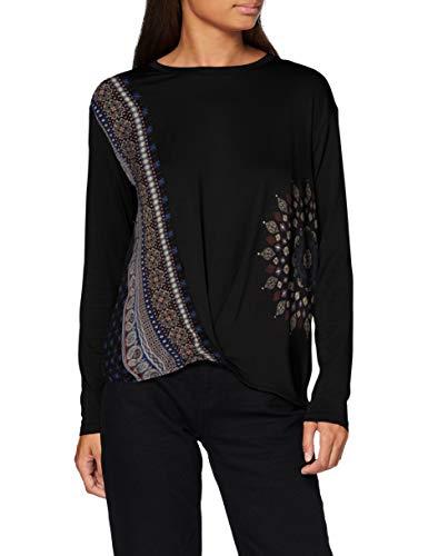 Desigual TS_Marsella Camiseta, Negro, S para Mujer