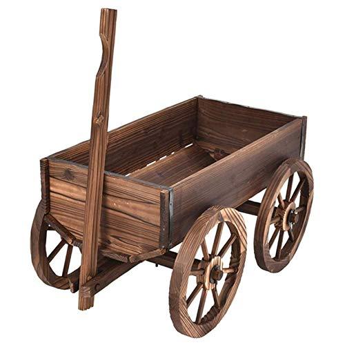 Tyueliang Garden Wagon - Macetero de diseño rústico con diseño rústico Wagon - Ideal para jardín o camping