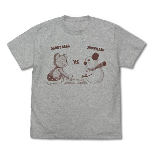 ちはやふる3 ダディベアvsスノー丸 Tシャツ/MIX GRAY-XL