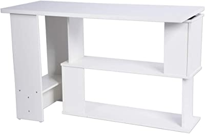 TOP KIT | Mesa Escritorio economica 900 Madera | Blanco: Amazon.es ...