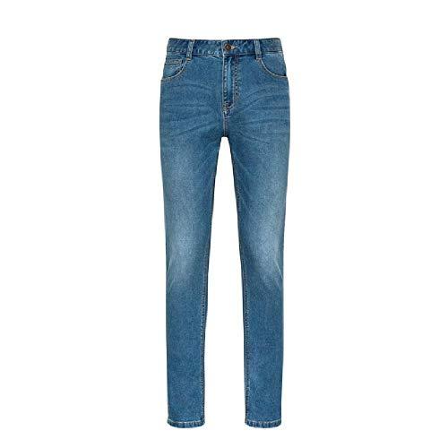 N\P Hombres Algodón Slim Pantalones Hombres Retro Juventud Suave Casual Jeans Algodón