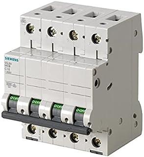 Siemens 5sl6 - Automático magnetotérmico 400v 6ka 4 polos c 40a