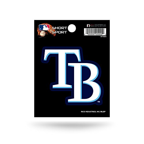 Rico Industries SRT6601 MLB Tampa Bay Rays Short Sport Decal,White,3.5