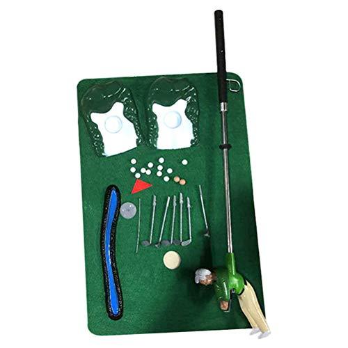 HEITIGN Mini-Golfspiel-Set, Golfschläger-Set für Kinder, Mini-Spiele, Golfspiele, Indoor, Spielzeug und Golfschläger für Kinder mit einem kleinen